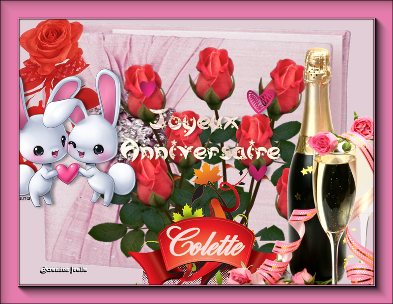Bon Anniversaire à Mon Amie Colette