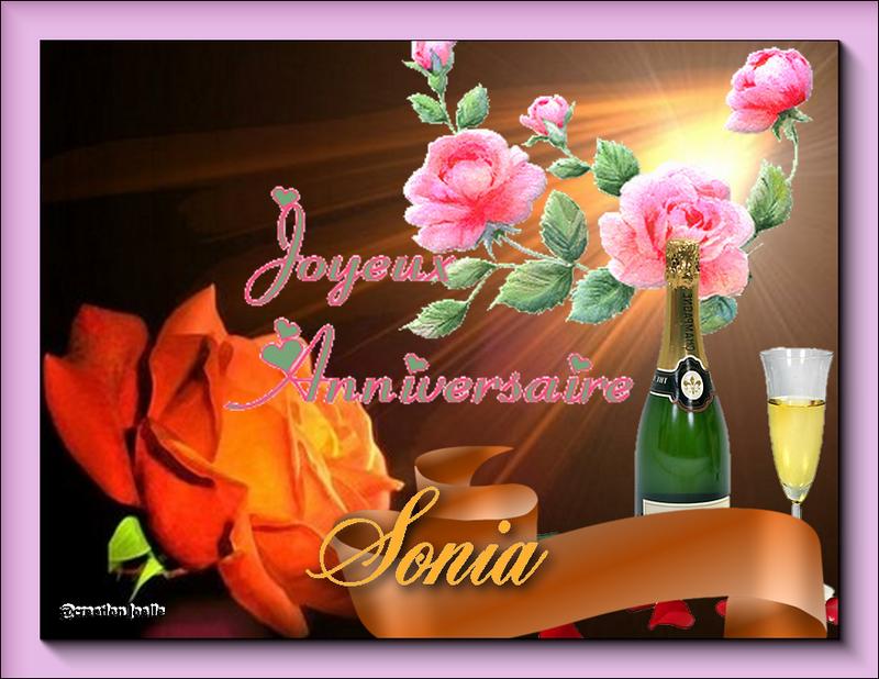 bon anniversaire sonia