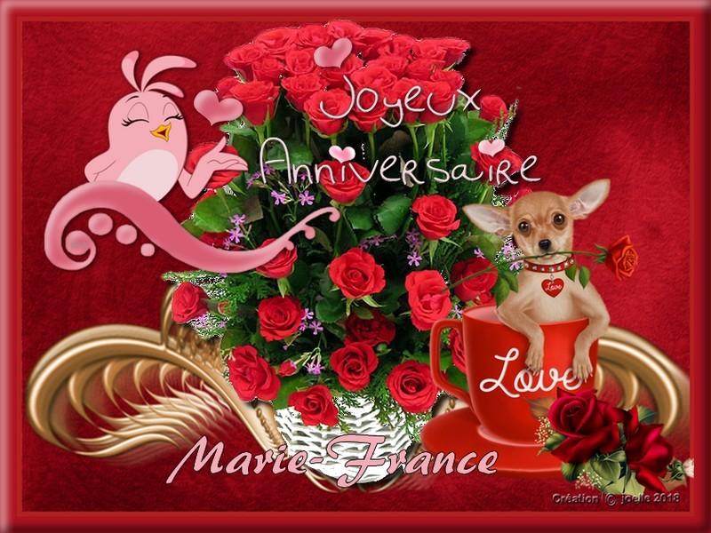 Joyeux Anniversaire A Mon Amie Marie France