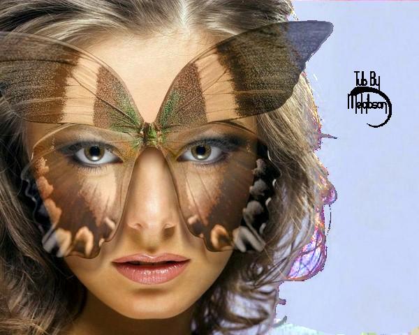 Tube Visage De Femme Papillon