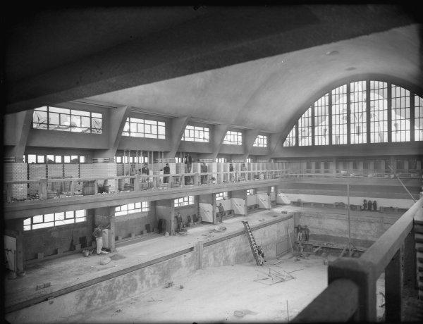 Lyon piscine garibaldi construction du bassin des hommes for Piscine garibaldi
