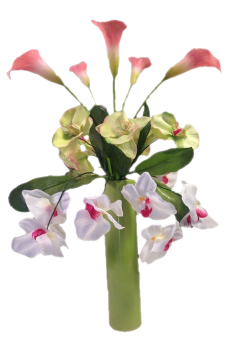tubes fleurs vase